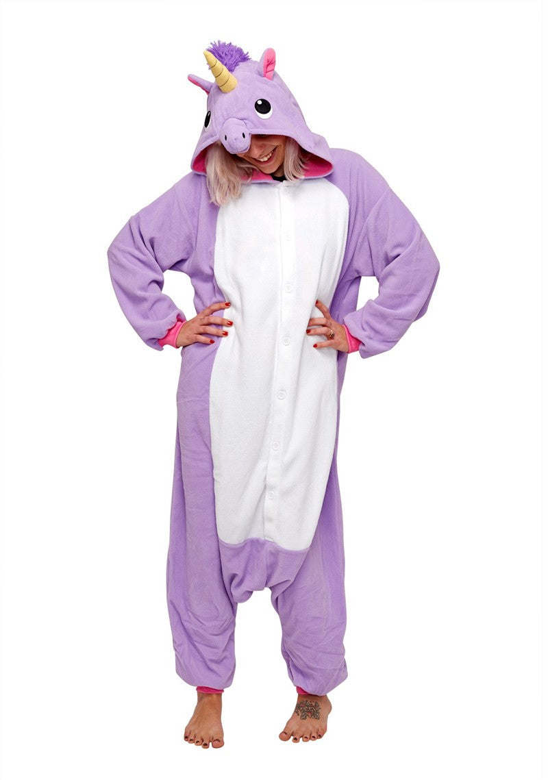 Purple Unicorn Animal Kigurumi Onesies