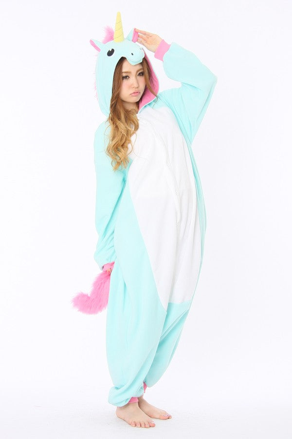 Blue Unicorn Animal Kigurumi Onesies