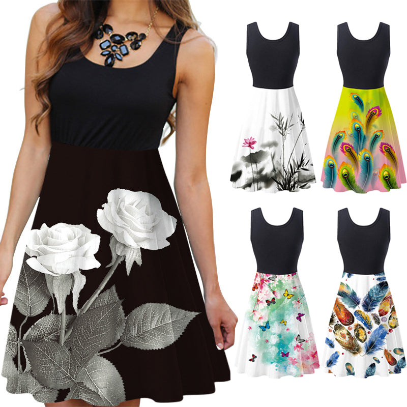 【BUY 3 GET 1 FREE】Sleeveless Printed Dress