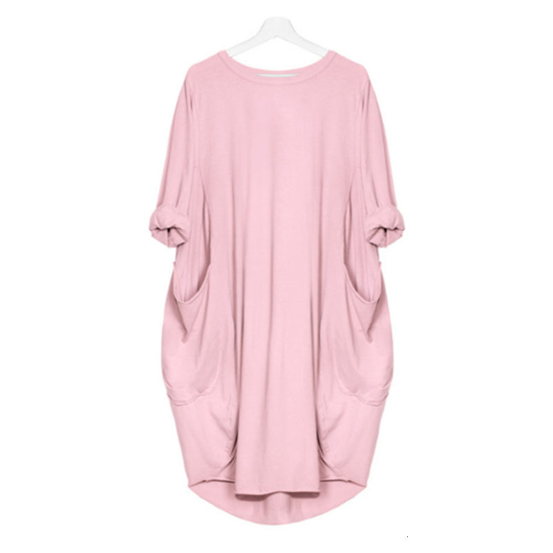 【BUY 2 SAVE 12% OFF】Pocket Casual Dress-solid color