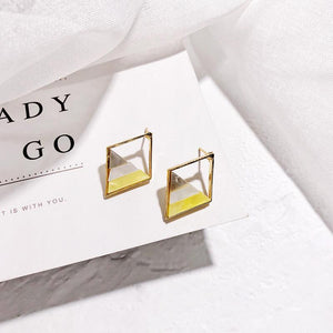 Korea Geometric Shell Earrings