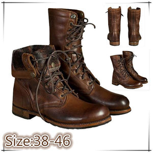 【Sale-50% OFF 】 Men's Leather Boots-For combat/hiking