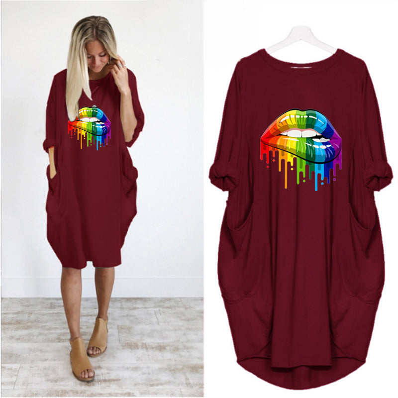 【Buy 2 Save 12% Off】Multicolor Style Pocket Casual Dress