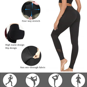 Women Black High Waist Sport Legging