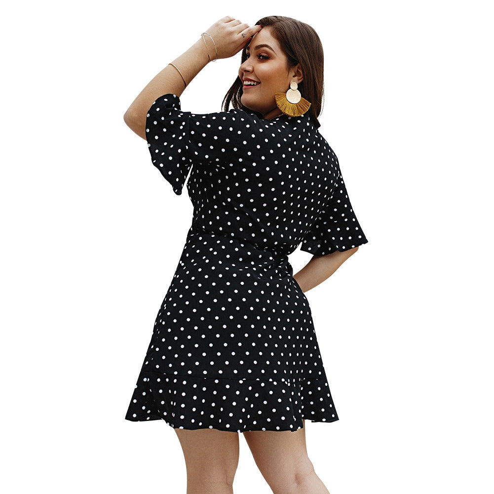 Polka Dot Print Bodycon Dress | XL-4XL