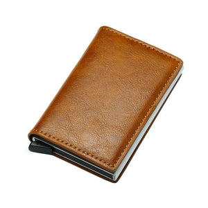 Men 2019 Vintage Black RFID Leather Wallets