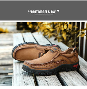 LAST 200 PAIRS IN stock!! - Men Comfortable First Layer Cowhide Leather Shoes