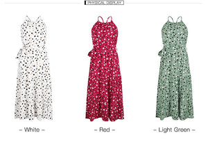 2020 Summer Polka Dot Sleeveless Dress