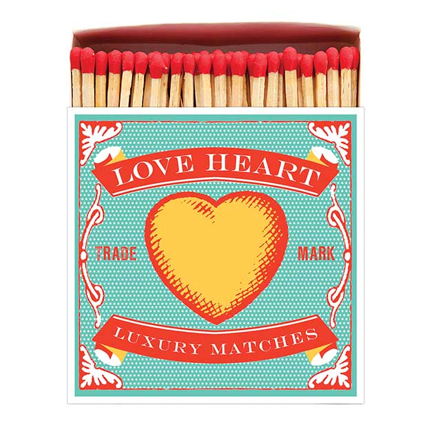 Archivist Gallery Square Matchbox - LOVEHEART