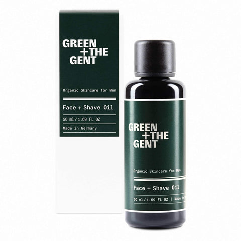 Green + The Gent Face + Shave Oil