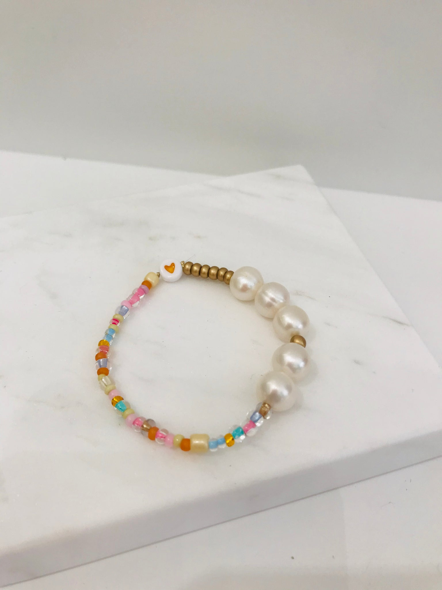 Nanas Studio BIG SHELL PASTEL Yellow Bracelet