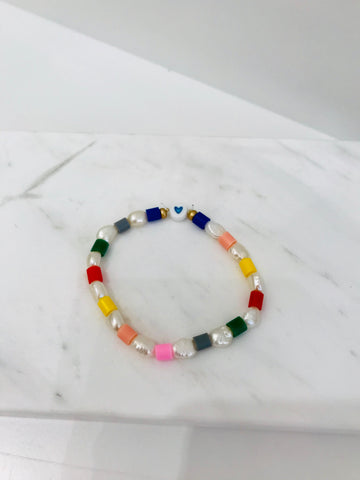Nanas Studio MULTI SHELL PRIMARY Blue Bracelet