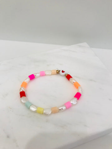 Nanas Studio MULTI SHELL SUNSET Red Bracelet