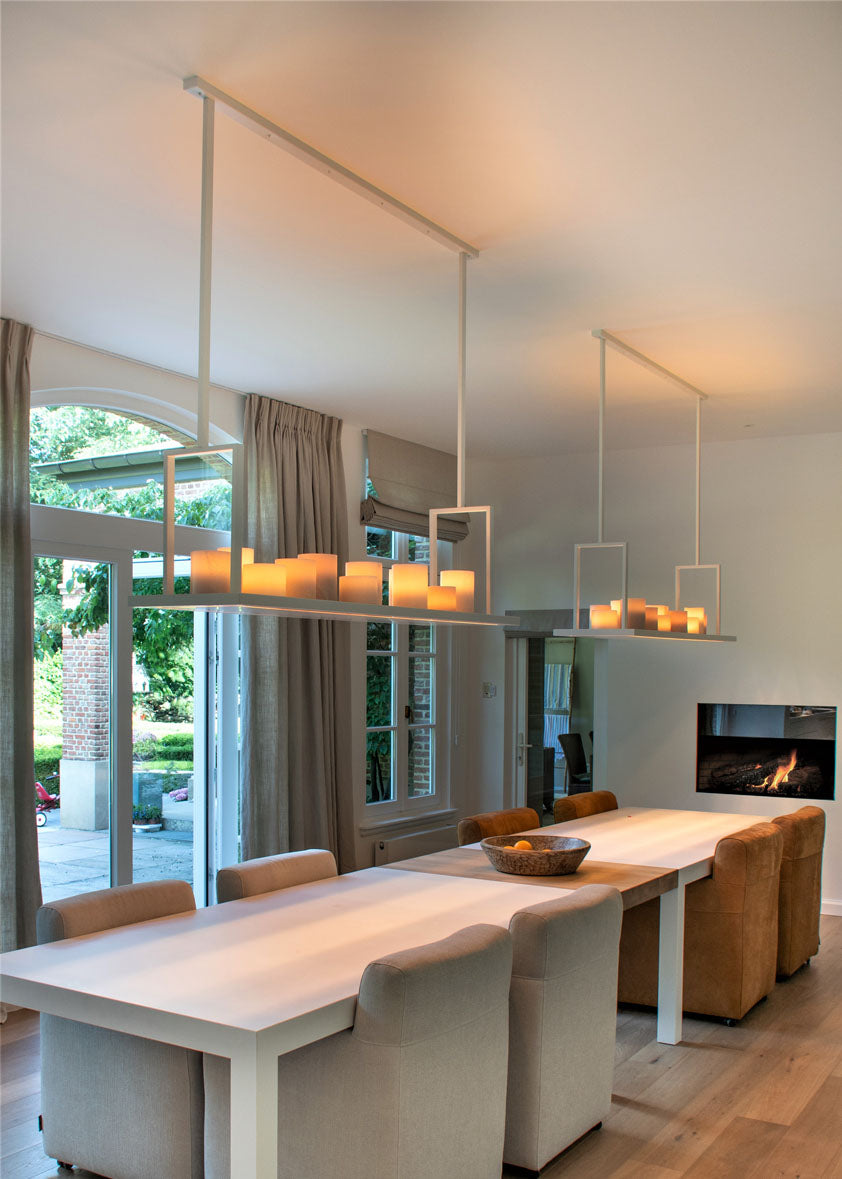 Authentage_Bellefeu suspension rectangular_White_indoor pendant