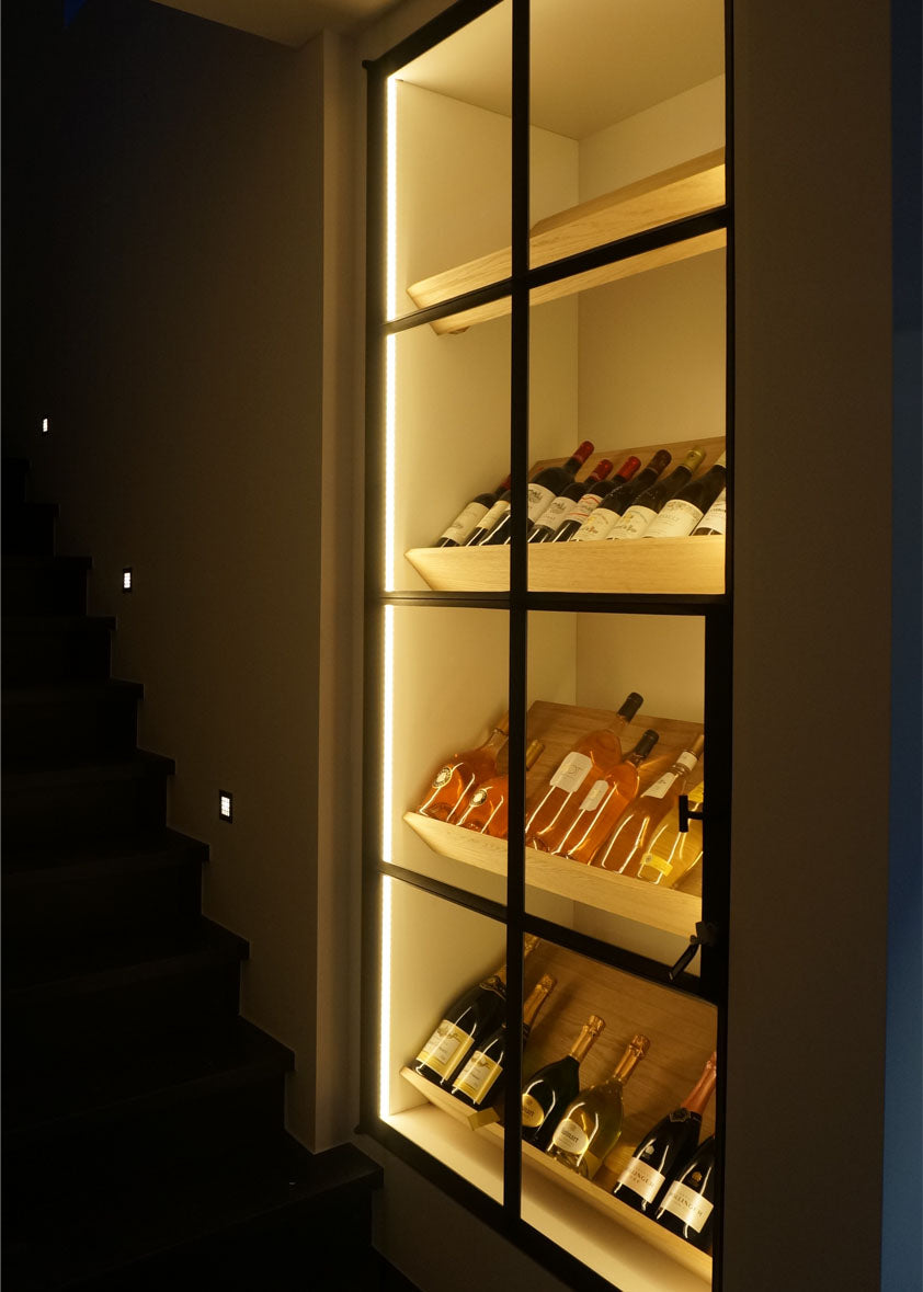 Authentage_integrated LED in wine cellar