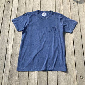 鵠沼Fish Retro-Fish T Navy