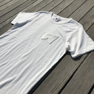 鵠沼Fish Retro-Fish T White