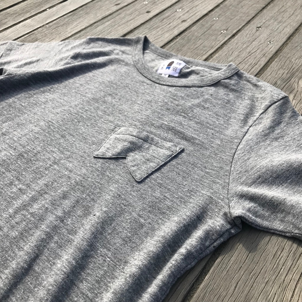 鵠沼Fish Retro-Fish T Grey