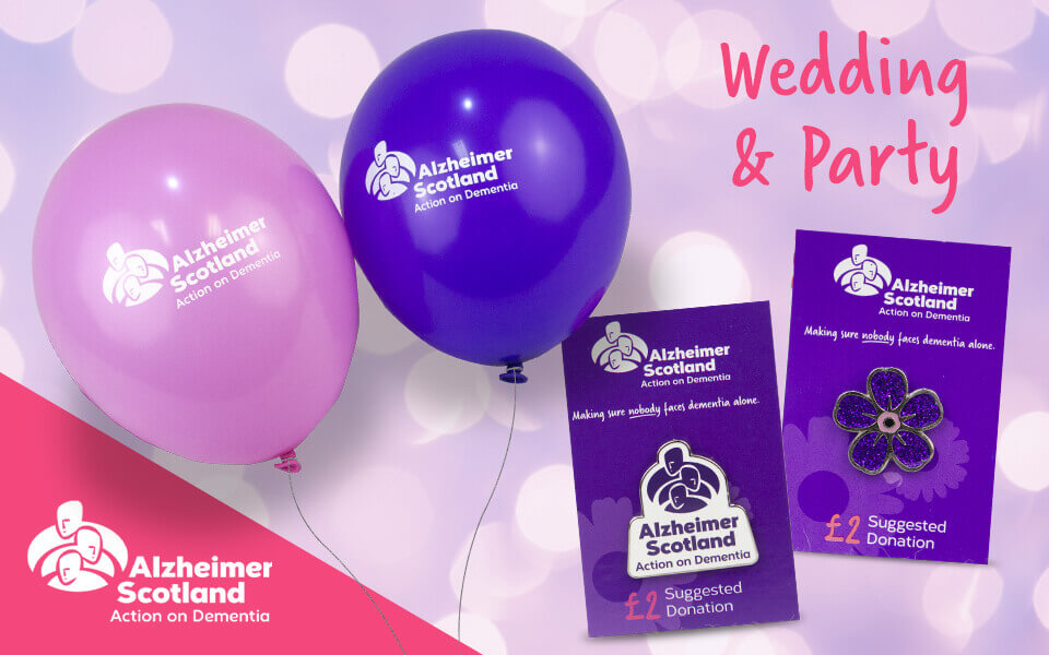Alzheimer Scotland wedding and perty favours