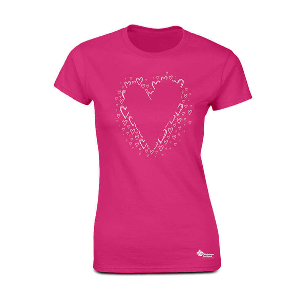 eclipse heart womens fitted t-shirt
