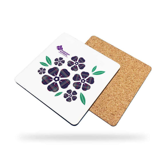 set of 2 floral coasters alzheimer scotland
