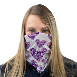 floral hearts face covering alzheimer scotland