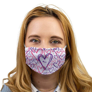 heart pattern face mask alzheimer scotland