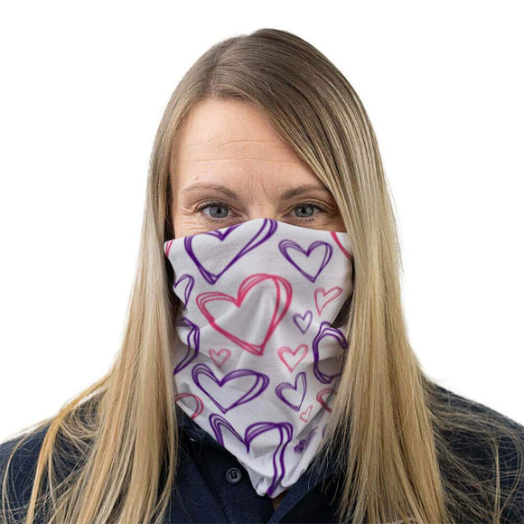 heart pattern face covering alzheimer scotland