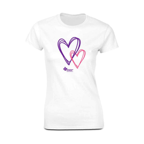 hearts womens fitted t-shirt alzheimer scotland