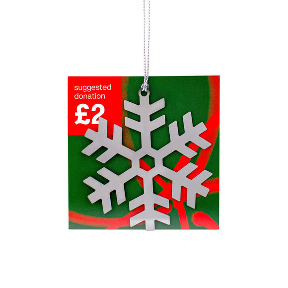 Snowflake Christmas Tree Decoration Alzheimer Scotland