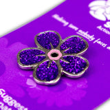 Alzheimer Scotland Sparkly Flower Badge
