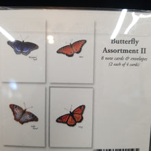 Load image into Gallery viewer, Butterfly Assortment II Note Cards