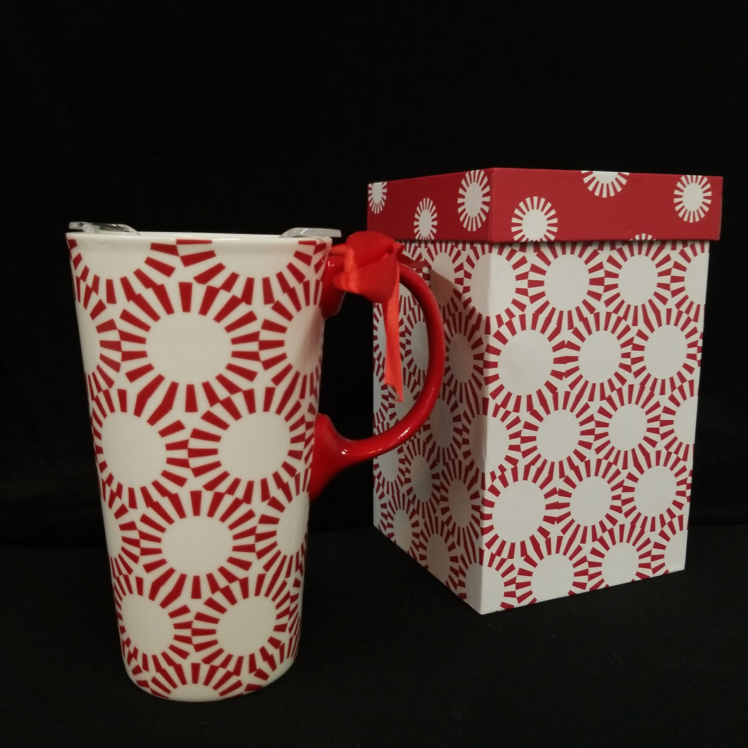 Ceramic Travel Cup - Peppermint