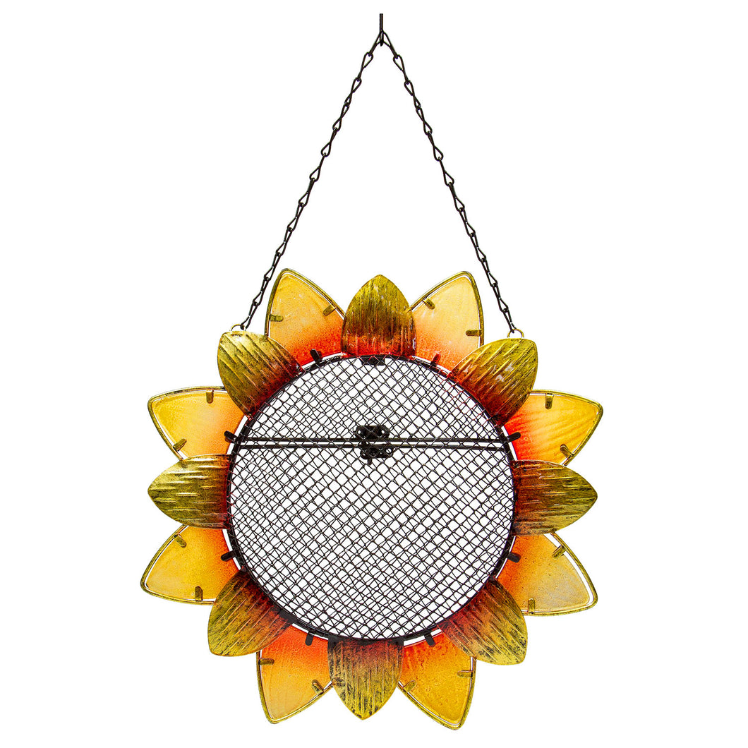 Birdfeeder:  Metal/Glass Sunflower