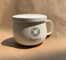 Load image into Gallery viewer, Porcelain Teaphile Mug with Infuser 陶瓷同心杯