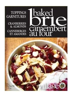 Brie Topper-Cranberries and Almonds