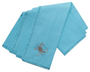 Embroidered Crab Napkins