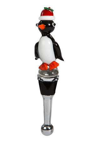 Holiday Penguin Bottle Stopper