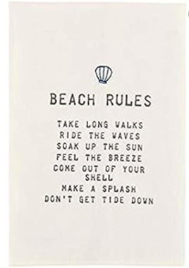 Beach Rules Tea Towel