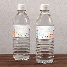 HEARTS WATER BOTTLE LABEL - AyaZay Wedding Shoppe