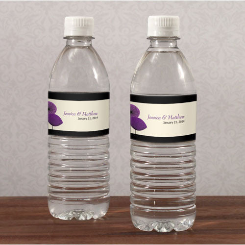 ROMANTIC ELEGANCE WATER BOTTLE LABEL - AyaZay Wedding Shoppe