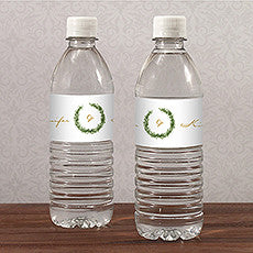 LOVE WREATH WATER BOTTLE LABEL - AyaZay Wedding Shoppe