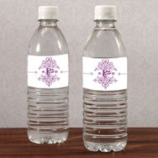 FANCIFUL MONOGRAM WATER BOTTLE LABEL - AyaZay Wedding Shoppe