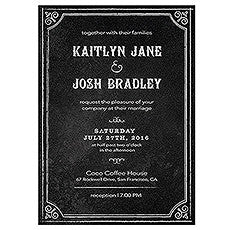 INVITATION WITH CHALKBOARD PRINT DESIGN SAMPLE - AyaZay Wedding Shoppe