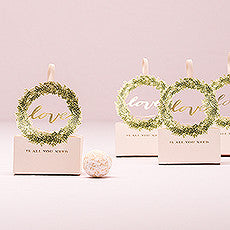 LOVE WREATH FAVOUR BOX WITH RIBBON (10/pkg) - AyaZay Wedding Shoppe
