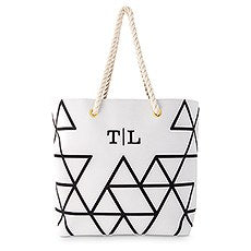 PERSONALIZED GEO COTTON FABRIC CANVAS TOTE BAG