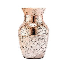 MERCURY GLASS FLOWER VASE - ROSE GOLD