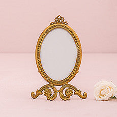 SMALL OVAL BAROQUE FRAME - GOLD - AyaZay Wedding Shoppe