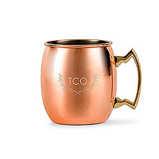 PERSONALIZED COPPER MOSCOW MULE DRINK MUG - WOODLAND MONOGRAM ETCHING