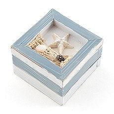 BEACH THEME WOODEN TRINKET BOXES - pkg of 12